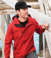 Light gents softshell Jacket Nano with hood and NANOtex® finish