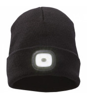 Knit beanie Mighty  with LED headlamp
