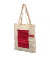 Roll-up buttoned cotton bag Snap