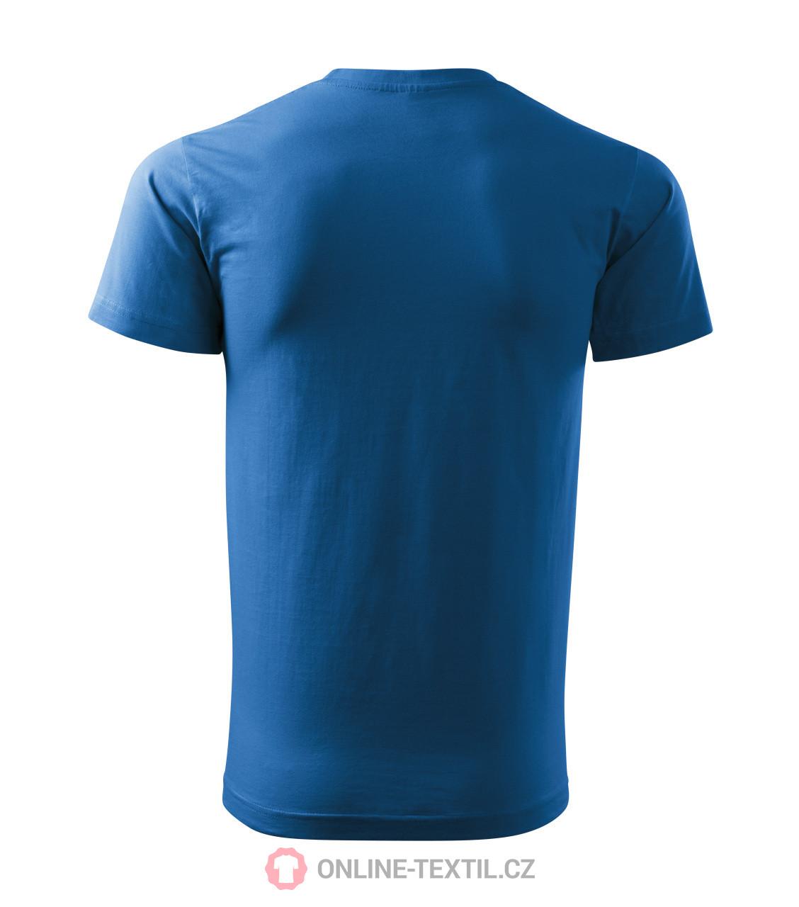 10ec5ac12285 ADLER CZECH Gents T-shirt Basic 129 - azure blue from the MALFINI ...
