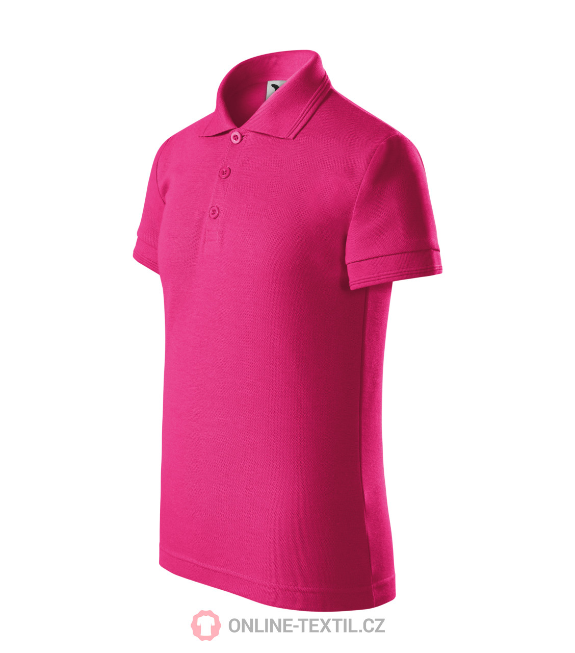8316cb1be1d5 ADLER CZECH Heavyweight kids polo shirt Pique Polo 222 - magenta ...