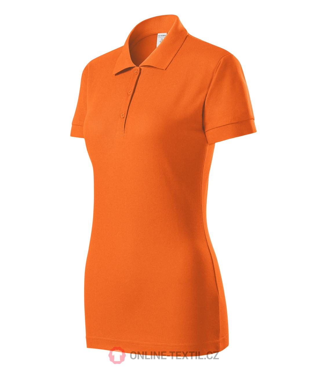 ladies orange polo shirt