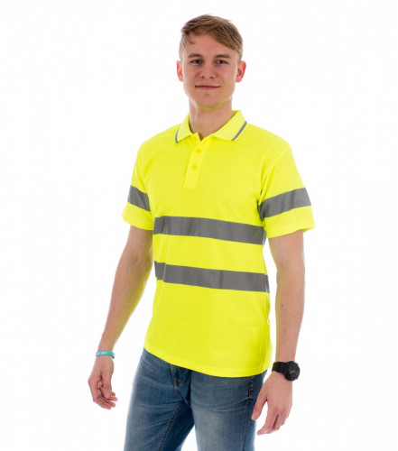 Reflective polo shirt HV Runway unisex Rimeck