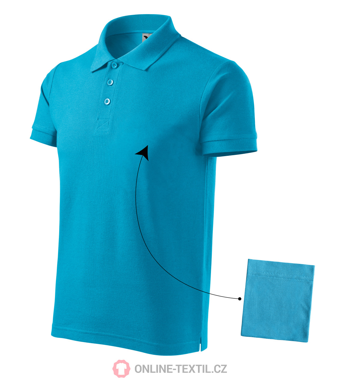 ADLER CZECH Gents Polo Shirt Cotton 212 - blue atoll from the MALFINI  collection | ONLINE-TEXTIL.COM