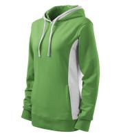 Ladies sweatshirt Kangaroo with hood and added elastane