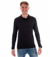 Gents cotton polo shirt Single J. Long Sleeve