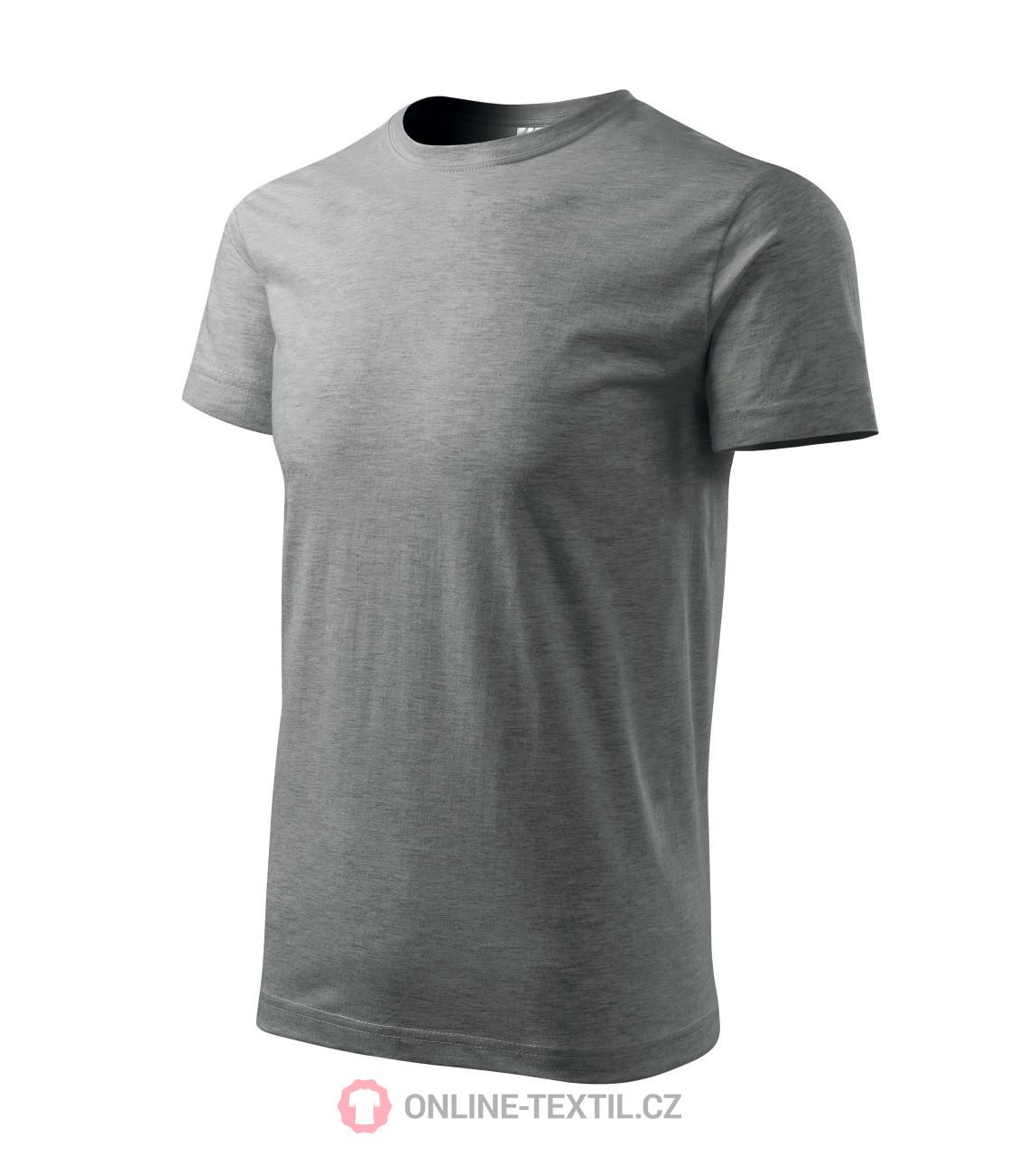 5337f7eb ADLER CZECH Gents T-shirt Basic 129 - dark gray melange from the ...
