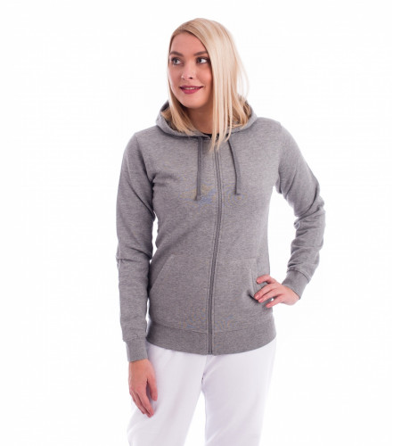 Ladies sweatshirt Trendy Zipper with hood