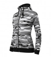 Camo Zipper Sweatshirt Ladies