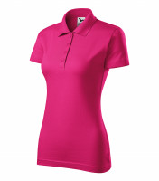 Smooth cotton ladies polo shirt Single J.