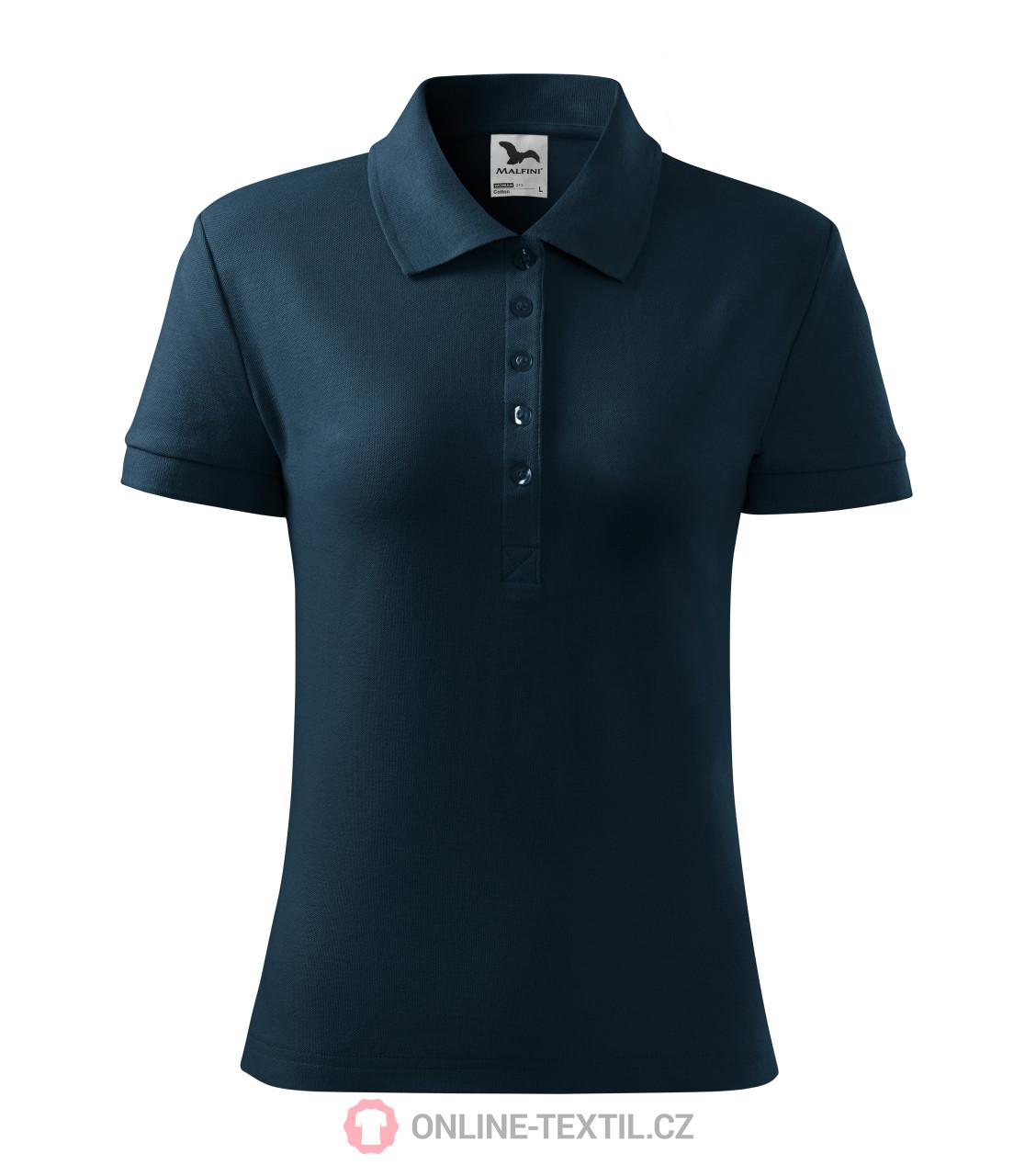 Ladies Polo Shirt Cotton navy blue