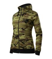 Camo Zipper Sweatshirt Ladies