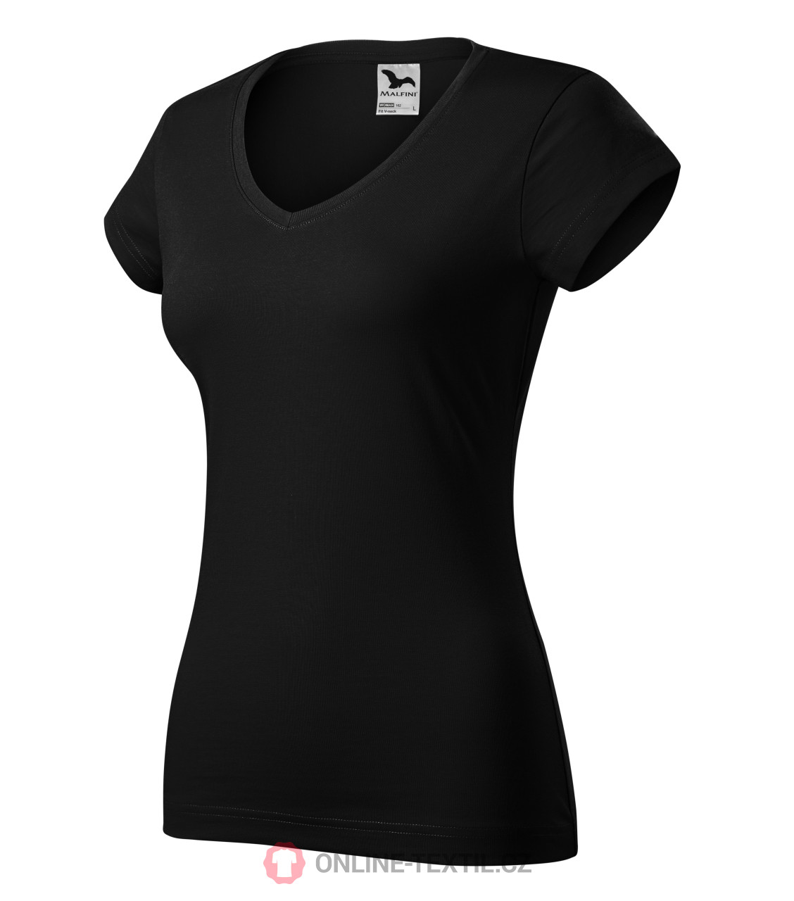 f65b6655 ADLER CZECH Heavyweight ladies T-shirt Fit V-neck 162 - černá from ...