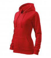 Ladies sweatshirt Trendy Zipper with hood