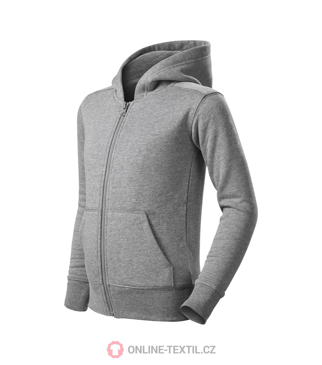 309d82099 ADLER CZECH Kids sweatshirt Trendy Zipper with hood 412 - dark gray ...