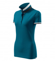 Premium heavyweight ladies polo shirt Collar Up