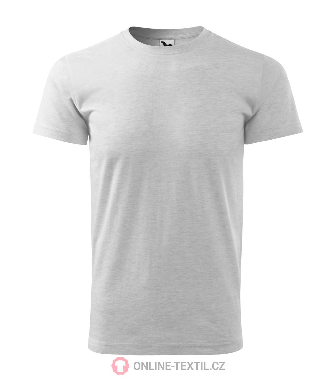 021aa5f122c5 ADLER CZECH Gents T-shirt Basic 129 - ash melange from the MALFINI ...
