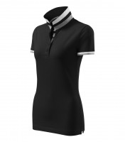 Premium heavyweight ladies polo shirt Collar Up